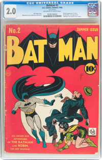 Batman #2 (DC, 1940) CGC GD 2.0 Off-white to white pages