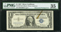 Error Notes:Obstruction Errors, Fr. 1619 $1 1957 Silver Certificate. PMG Choice Very Fine 35.. ...