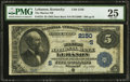 National Bank Notes:Kentucky, Lebanon, KY - $5 1882 Date Back Fr. 534 The Marion NB Ch. #(S)2150. ...