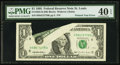 Error Notes:Printed Tears, Fr. 1922-H $1 1995 Federal Reserve Note. PMG Extremely Fine 40 EPQ.. ...