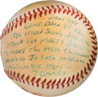 1986 World Series Last Out Baseball from The Gary Carter Collection