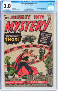 Journey Into Mystery #83 (Marvel, 1962) CGC GD/VG 3.0 Off-white pages