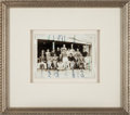 Baseball Collectibles:Photos, 1931 Baseball Tour of Japan Team Signed Photograph--The Only Example Known!...