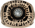 Baseball Collectibles:Others, 1971 Pittsburgh Pirates World Series Championship Ring Presented to Catcher/Pinch Hitter Charlie Sands....