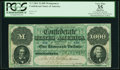 Confederate Notes:1861 Issues, T1 $1,000 1861 Cr. 1.. ...