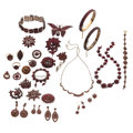 Estate Jewelry:Lots, Bohemian Garnet, Gold, Silver, Silver Vermeil, Base Metal Jewelry. . ... (Total: 34 Items)