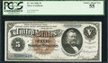 Large Size:Silver Certificates, Fr. 263 $5 1886 Silver Certificate PCGS Choice About New 55.. ...