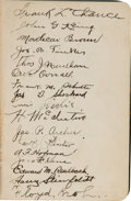 Baseball Collectibles:Others, 1910 Chicago Cubs Team Signed Book Presented to President William Howard Taft.. ...