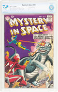 Silver Age (1956-1969):Science Fiction, Mystery in Space #55 (DC, 1959) CBCS VF- 7.5 Off-white pages....