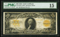Large Size:Gold Certificates, Fr. 1187* $20 1922 Mule Gold Certificate PMG Choice Fine 15.. ...