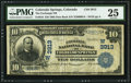 National Bank Notes:Colorado, Colorado Springs, CO - $10 1902 Date Back Fr. 618 The Exchange NBCh. # (W)3913. ...