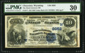 National Bank Notes:Wyoming, Cheyenne, WY - $10 1882 Value Back Fr. 577 The Stock Growers NB Ch.# (W)2652. ...