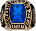 Baseball Collectibles:Others, 1986 Gary Carter All-Star Game Ring from The Gary CarterCollection....