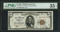 Fr. 1850-J* $5 1929 Federal Reserve Bank Note. PMG Choice Very Fine 35 EPQ