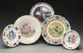 Ceramics & Porcelain, British:Other , Five Wedgwood Ceramics: Big Top Bowl and Plate, PortraitPlates by Therese & Emile Lessore, Formosa Plate: L...(Total: 4 Items)