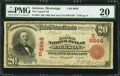 National Bank Notes:Mississippi, Jackson, MS - $20 1902 Red Seal Fr. 639 The Capital NB Ch. # (S)6646. ...