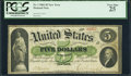 Large Size:Demand Notes, Fr. 1 $5 1861 Demand Note PCGS Very Fine 25.. ...
