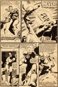 Original Comic Art:Panel Pages, John Byrne and Terry Austin Uncanny X-Men #142 Story Page 17Original Art (Marvel, 1981)....