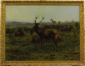 Fine Art - Painting, European:Antique  (Pre 1900), ROSA BONHEUR (French 1822-1899). The Monarch of the Herd,1868. Oil on canvas. 31-1/4 x 39 inches (79.4 x 99.1 cm). Sign...