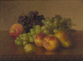 Fine Art - Painting, American:Antique  (Pre 1900), ROBERT SPEAR DUNNING (American 1829-1905). Still Life withFruit, 1889. Oil on canvas. 12 x 16 inches (30.5 x 40.6 cm)....