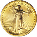 High Relief Double Eagles, 1907 $20 High Relief, Wire Rim MS60 PCGS....