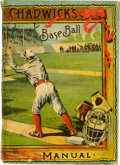 "Baseball Collectibles:Others, 1889 Chadwick's Baseball Manual. 1889 manual called Chadwick'sBaseball delivers the rules of the game by ""Father Baseba..."