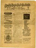 """Baseball Collectibles:Publications, 1887 """"Daily Baseball Bulletin"""" and Scorecard. Distributed in 1887at Chicago's West Side Park, this copy of the Daily Bas..."""