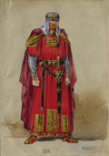 Works on Paper, LÉON BAKST (Russian 1866-1924). Medieval Prince. Watercolor and gouache on paper. 10 x 7 inches (25.4 x 17.8 cm) (sheet)...