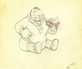 "animation art:Production Cel, ""Mother Goose Goes Hollywood"" Animation Production Drawing OriginalArt (Disney, 1938). ..."