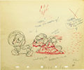 "animation art:Production Cel, ""The Country Cousin"" Animation Production Drawing Original Art(Disney, 1936). ..."