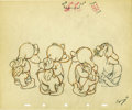 "animation art:Production Cel, ""Snow White and the Seven Dwarfs"" Pencil Animation Drawing OriginalArt (Disney, 1937). ..."