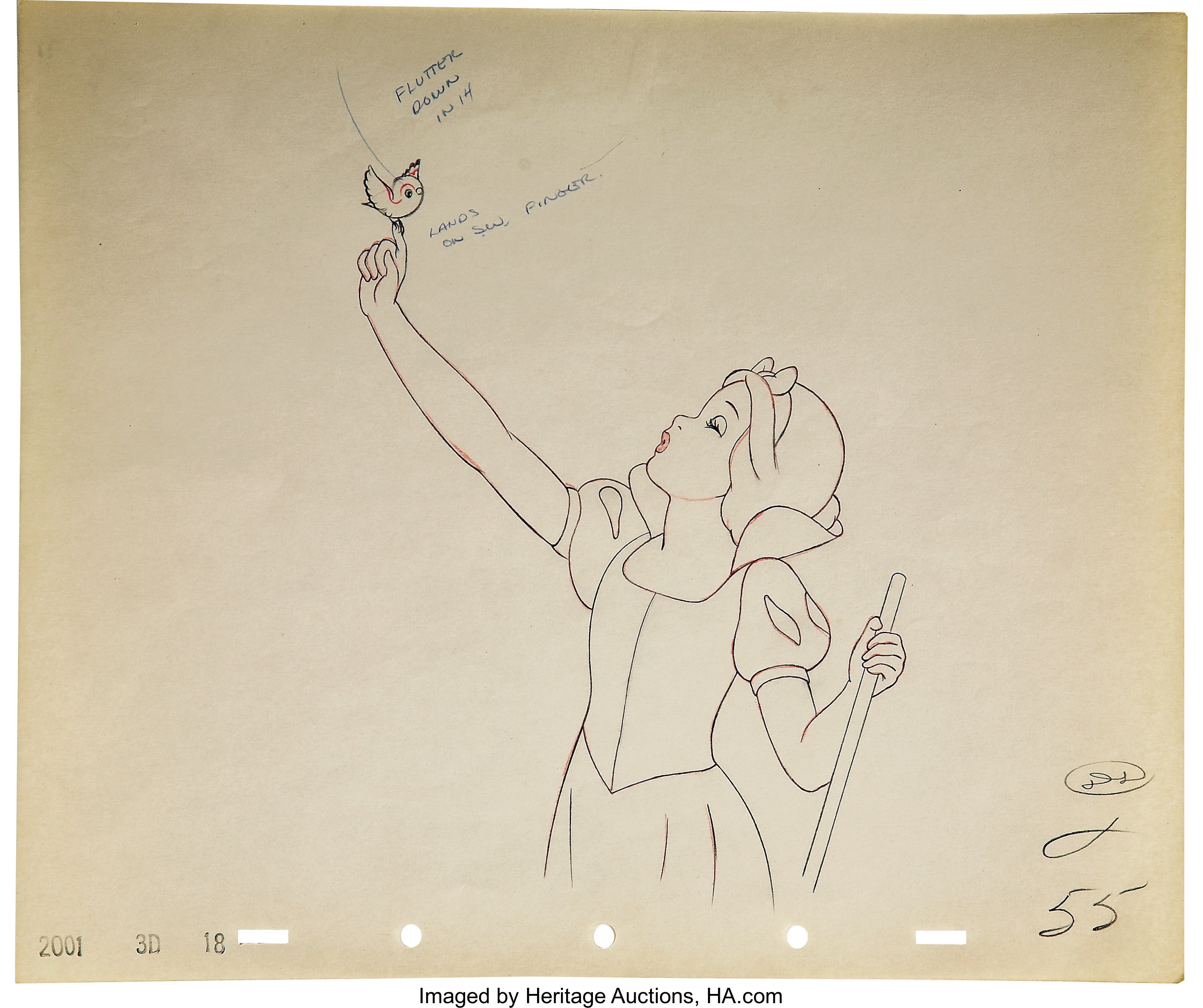 Snow white and the seven dwarfs pencil animation drawing original