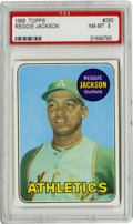 Baseball Cards:Singles (1960-1969), 1969 Topps Reggie Jackson Rookie #260 PSA NM-MT 8. Hall of Famerookie offering from the 1969 Topps baseball set features t...