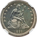 Proof Seated Quarters: , 1891 25C PR64 NGC. NGC Census: (59/66). PCGS Population (47/48). Mintage: 600. CDN Wsl. Price for problem free NGC/PCGS coi...