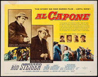 "Al Capone (Allied Artists, 1959). Half Sheet (22"" X 28"") Style B. Crime"