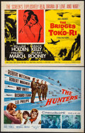 "Movie Posters:War, The Hunters & Other Lot (20th Century Fox, 1958). Half Sheets(2) (22"" X 28""). War.. ... (Total: 2 Items)"