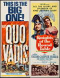 "Movie Posters:Historical Drama, Quo Vadis & Other Lot (MGM, R-1964). Inserts (2) (14"" X 36"").Historical Drama.. ... (Total: 2 Items)"