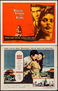 "Movie Posters:Romance, Sayonara & Other Lot (Warner Brothers, 1957). Half Sheets (2) (22"" X 28"") & Insert (14"" x 36""). Romance.. ... (Total: 3 Items)"