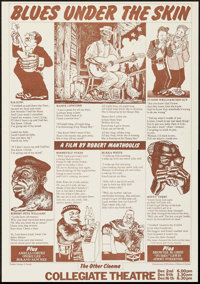 """Blues Under the Skin (1973). College Poster (16"""" X 22.75""""). Musical"""