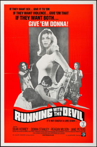 """Running with the Devil & Others Lot (Unisphere, 1973). One Sheets (6) (27"""" X 41"""" & 28"""" X..."""