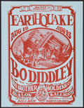 Movie Posters:Rock and Roll, Earthquake featuring Bo Diddley and Big Brother and the HoldingCompany at the Avalon Ballroom (Family Dog, 1966). Handbill ...