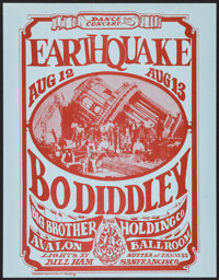Earthquake featuring Bo Diddley and Big Brother and the Holding Company at the Avalon Ballroom (Family Dog, 1966). Handb...