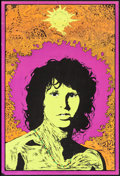"Movie Posters:Rock and Roll, Jim Morrison: Soft Toucher by Joe Roberts Jr. (A. Sirkia, Early 1970s). Silk Screen Black Light Personality Poster (21"" X 31..."