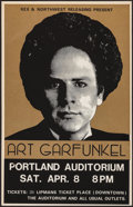 "Movie Posters:Rock and Roll, Art Garfunkel at the Portland Auditorium (Kex & NorthwestReleasing, 1978). Concert Window Card (14"" X 22""). Rock andRoll...."