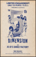 """Movie Posters:Rock and Roll, The 5th Dimension with Jo Jo's Dance Factory at the UrisTheatre(Nederlander, 1974). Concert Window Card (14"""" X 22""""). Rocka..."""
