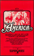 "Movie Posters:Rock and Roll, America at the Jackson County Exposition Hall (AlbatrossProductions, 1977). Concert Window Card (13.25"" X 22""). Rock andRo..."