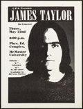 "Movie Posters:Rock and Roll, James Taylor at McMaster University (C.P.I., 1970s). Concert Poster(17.5"" X 23""). Rock and Roll.. ..."
