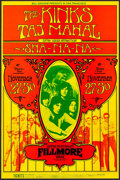 "Movie Posters:Rock and Roll, The Kinks with Taj Mahal at The Fillmore West (Bill Graham, 1969).Concert Window Card (14"" X 21.25""). Rock and Roll.. ..."
