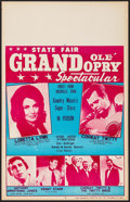 """Movie Posters:Musical, Grand Ole' Opry Spectacular with Loretta Lynn and Conway Twitty (Unknown, 1960s). Concert Window Card (14"""" X 22""""). Musical...."""