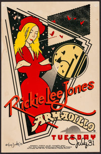"Rickie Lee Jones at the Armadillo World Headquarters (AWH, 1979). Concert Poster (11.5"" X 17.5""). Rock and Rol..."